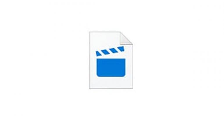 Concept image of a movie clap stick