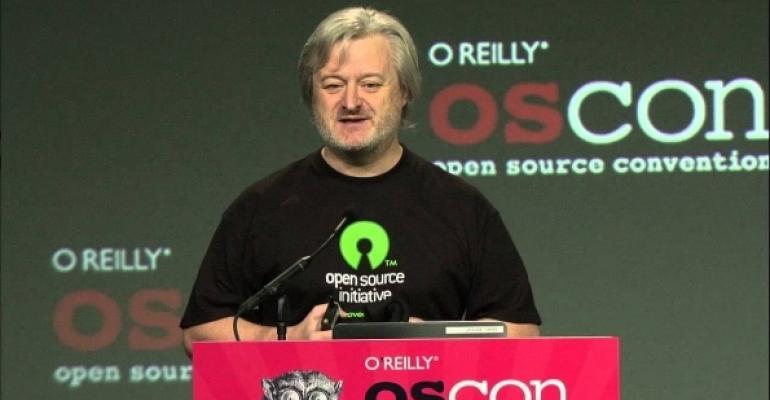 Simon Phipps speaks at OSCON in 2012.