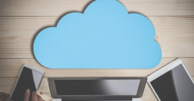 cloud cutout with mobile devices