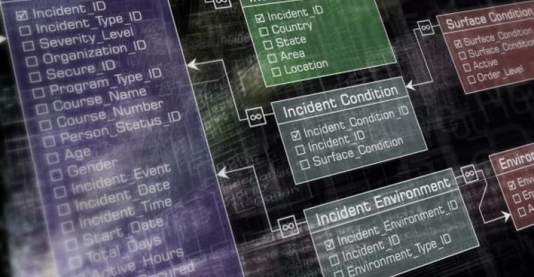 Database design strucutre illustration