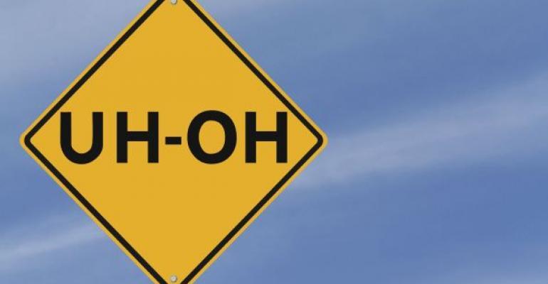 yellow uhoh road sign