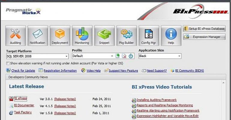 BIxPress 301 Standard Edition screenshot