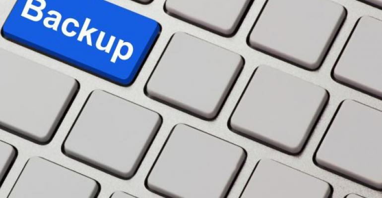 blue backup key on keyboard