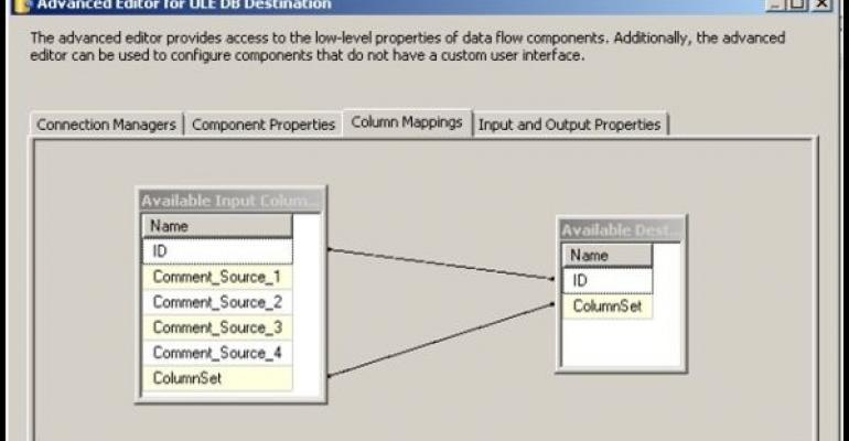 SQL Server Advanced Editor for OLE DB Destination