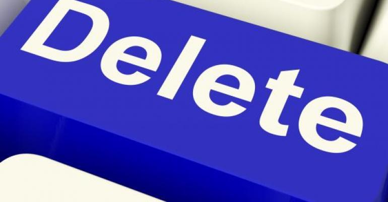 blue computer keyboard Delete key
