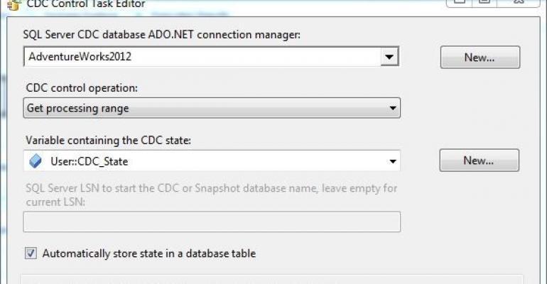 SQL Server CDEC database ADONET Control Task Editor