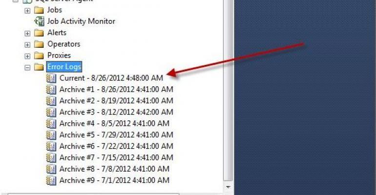 screenshot of SQL Server Agent