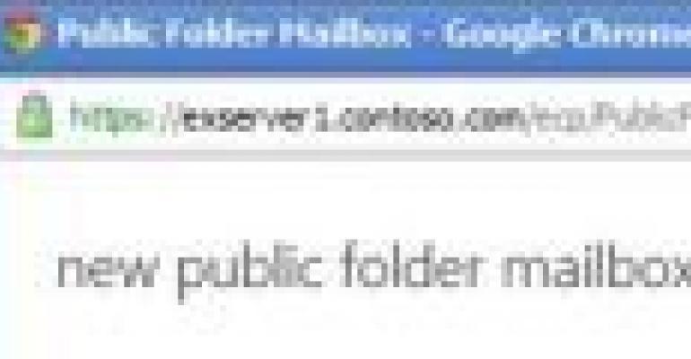 Exchange 2013 Modern Public Folders