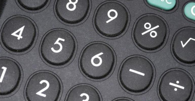 black calculator keys