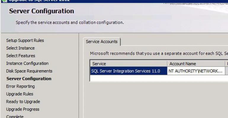 Migrating to SQL Server 2012