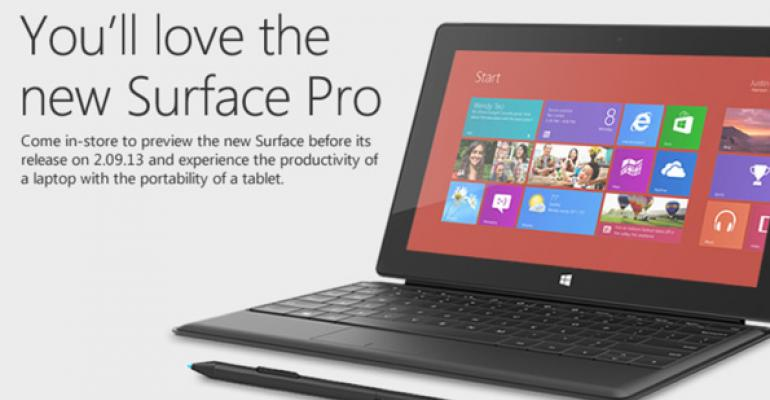 Microsoft Invites Users to Retail Stores to Preview Surface Pro