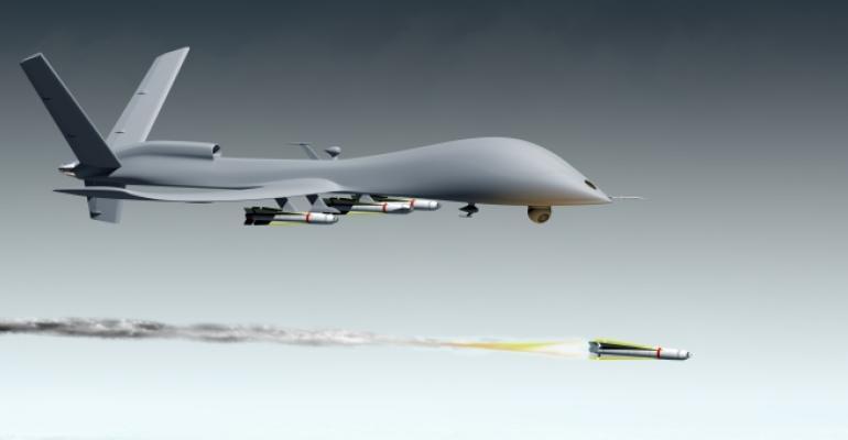 Military combat drone