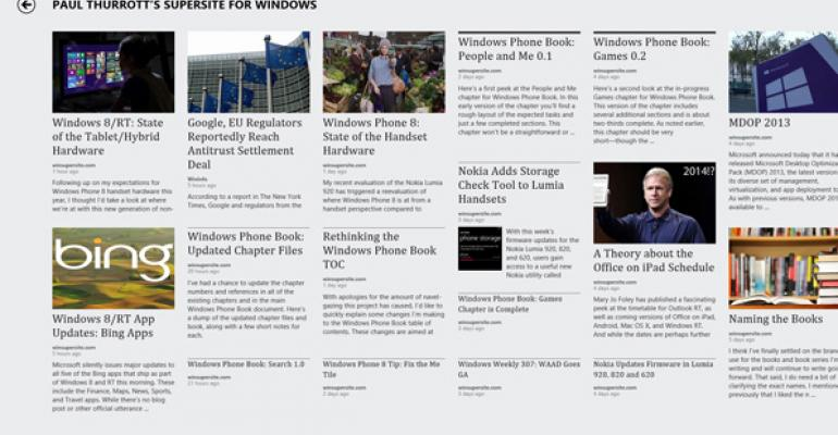 Windows 8 Tip: Add RSS Feeds to the News App