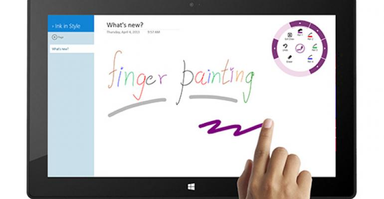 OneNote App for Windows 8/RT Improved for Touch