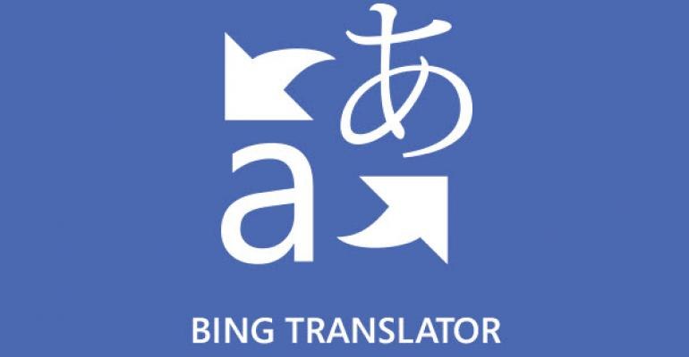 Bing Translator Converts Over 40 Languages for Windows 8