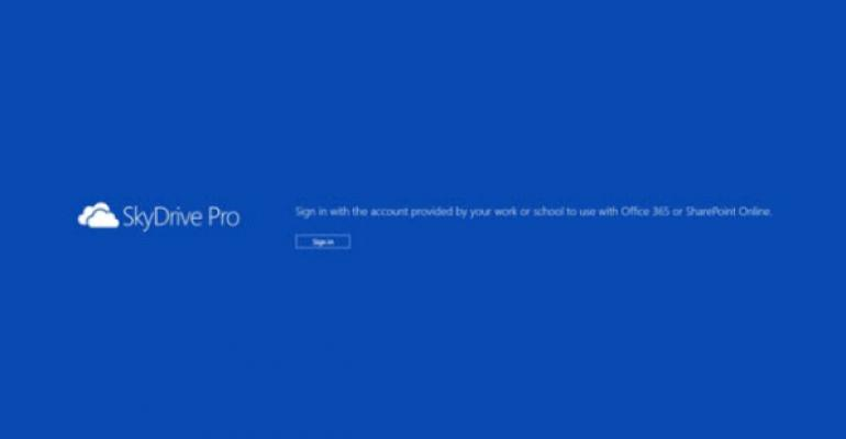 SkyDrive Pro App Released for Windows 8 and iOS
