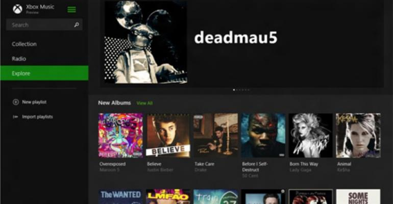 In Blue: Xbox Music 2.0