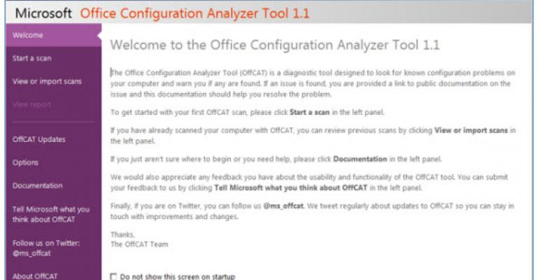 Microsoft Releases Version 1.1 of OffCAT, Providing Office 2013 Support