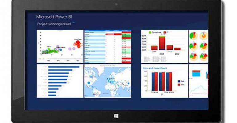 Microsoft Power BI project management screenshot