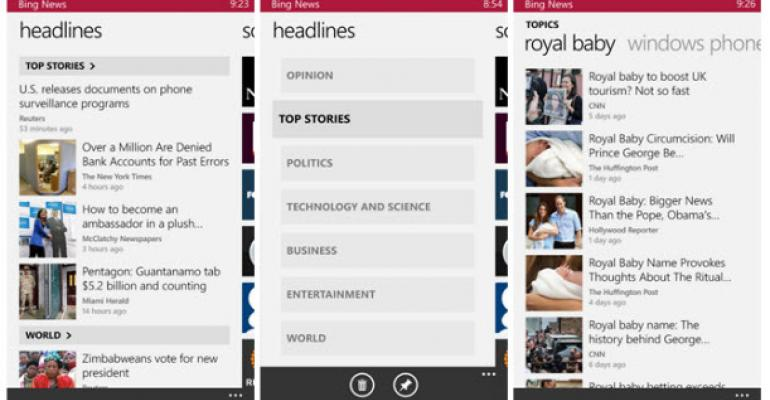 Windows Phone Looks More like Windows 8 with Bing Apps
