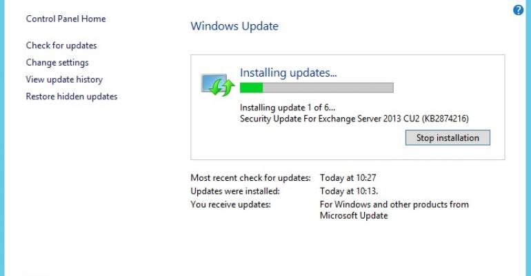 MS13-061 causes search controller headaches for Exchange 2013