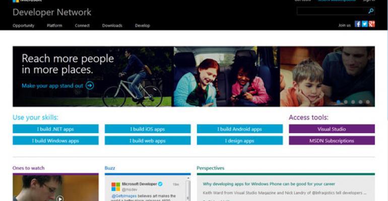 Microsoft Developer Network website