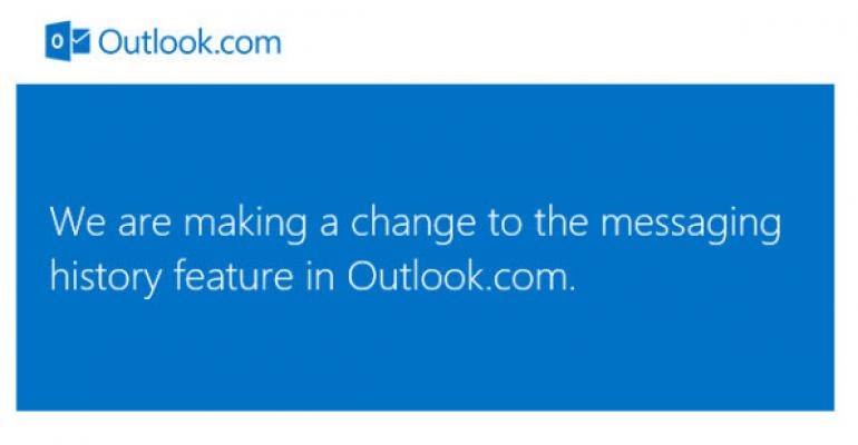 Microsoft Set to Stop Recording Your Online Chats in Outlook.com