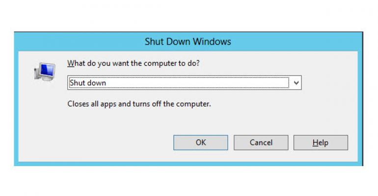 How to Shut Down Windows Server 2012 / Windows 8 through Remote Desktop