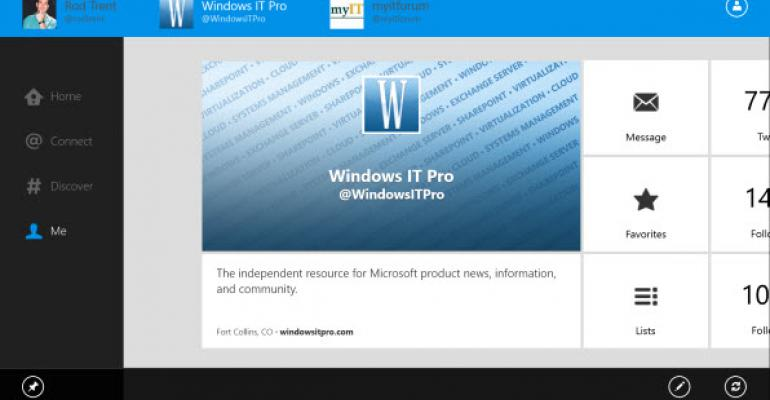 Twitter's Windows 8 App Gains Multiple Account Support