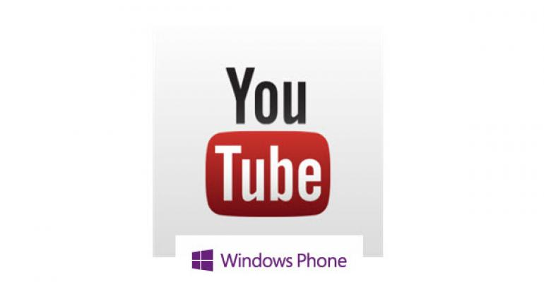 YouTube App for Windows Phone 8 Makes its Way Back
