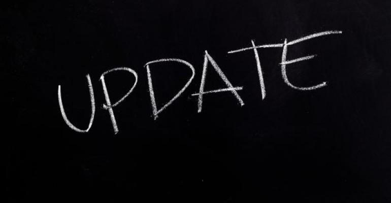 update written in white on black background