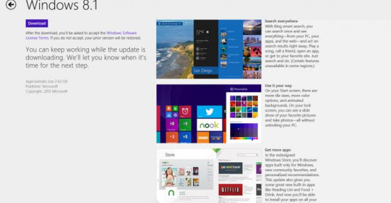 The Sure-Fire Method to Locate the Windows 8.1 Upgrade in the Windows Store App