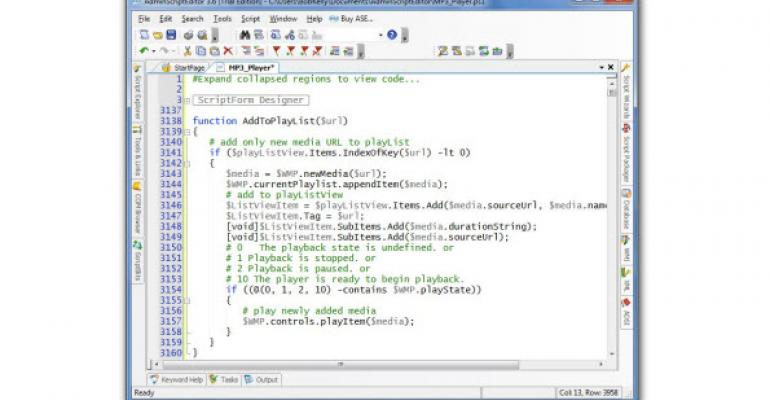 Forever Freeware: Admin Script Editor Gets a Final Resting Place