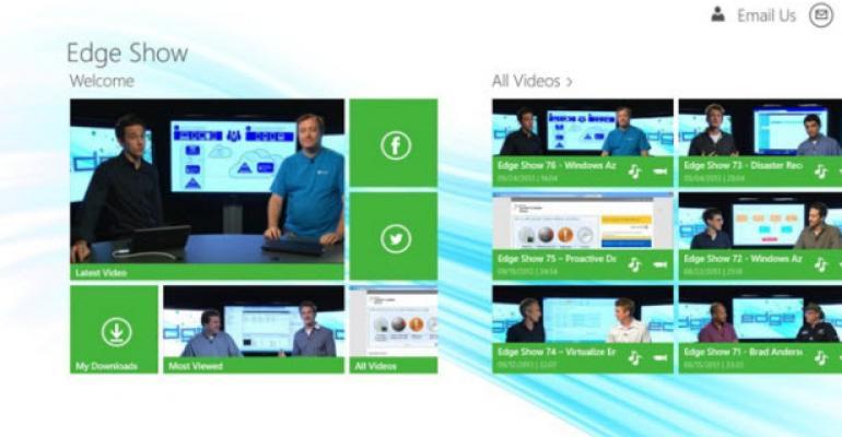 TechNet Edge Show App for Windows 8