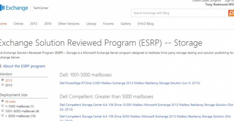 Deficient IBM and Hitachi 120,000 mailbox configurations