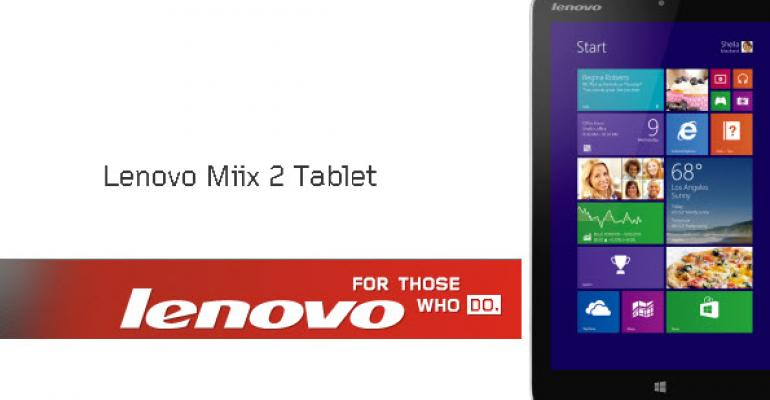 Lenovo Miix2 8 Tablet Owners Get a Targeted Update to Fix Battery Life Issues with Windows 8.1