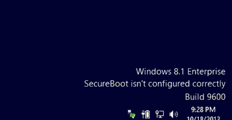 "Fix for ""SecureBoot isn't configured correctly"" Released for Windows 8.1 and Windows Server 2012 R2"