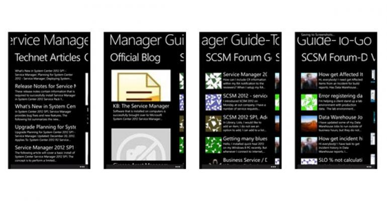 Grab the System Center Service Manager App for Windows Phone