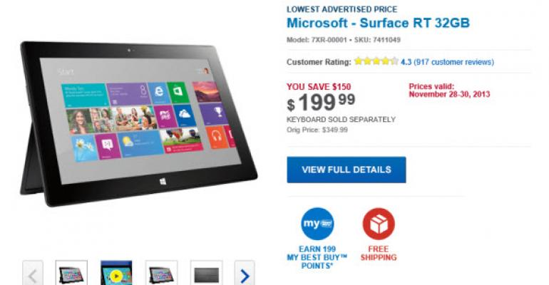 Best Buy Selling Surface RT at TechEd 2013 Prices for Black Friday