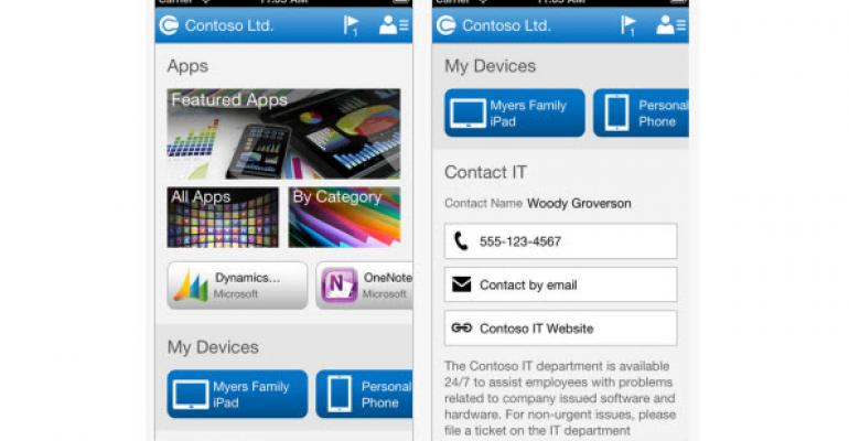 Microsoft Releases Windows Intune Company Portal Apps for iOS and Android