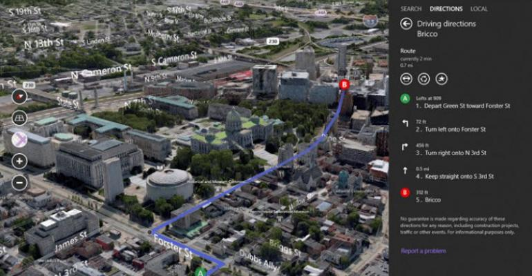 Bing Maps Brings the 3D World to Windows 8.1 in Just Released Preview