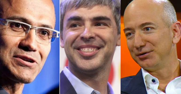 Microsoft Executive VP Satya Nadella needs CSP partners to help battle Google39s Larry Page and Amazon39s Jeff Bezos in the cloud