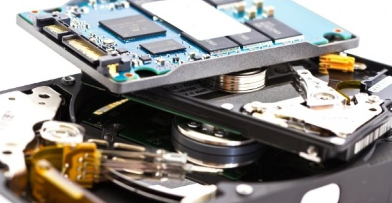 solid state disk SSD and hard disk drive HDD