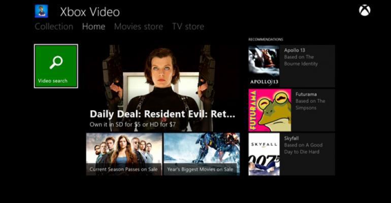 Xbox One: Xbox Video