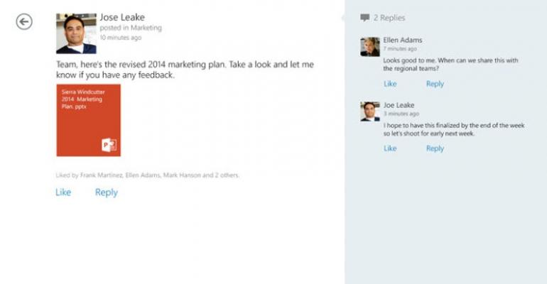 Microsoft Releases Yammer for iOS, Android, Windows 8, and Windows Phone