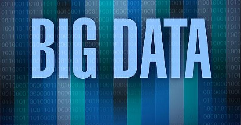 big data written in blue over numbers