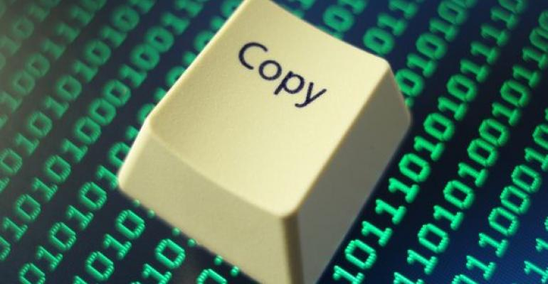 copy computer keyboar key with data in background