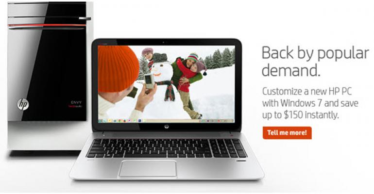 HP Windows 7 Promotion: Throwing a Dig at Microsoft or Just Trying to be Relevant?