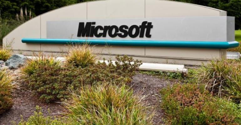 Microsoft corporate campus sign