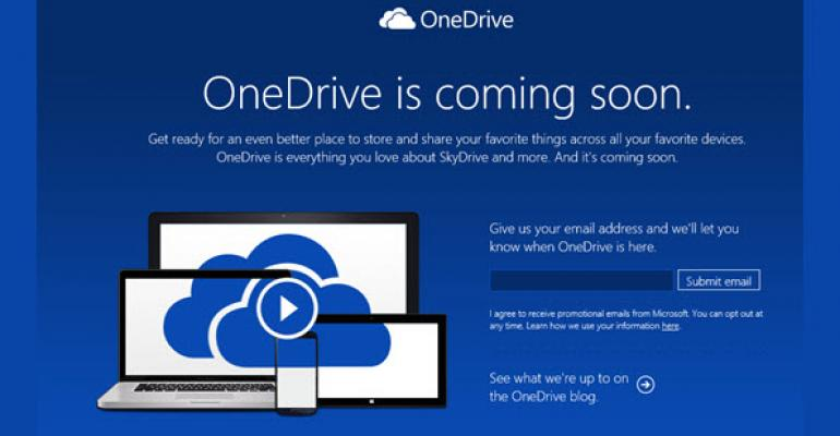 SkyDrive to become OneDrive